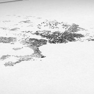 Detalle del mapa minimalista de Palma de Mallorca