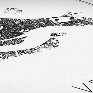 Detalle del mapa minimalista de Venecia