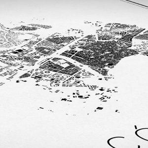 Detalle del mapa minimalista de Córdoba