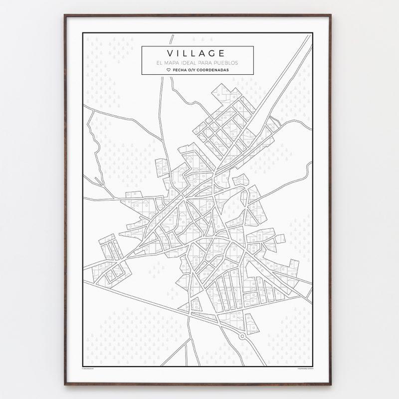 Village: Mapa para pueblos en blanco y negro