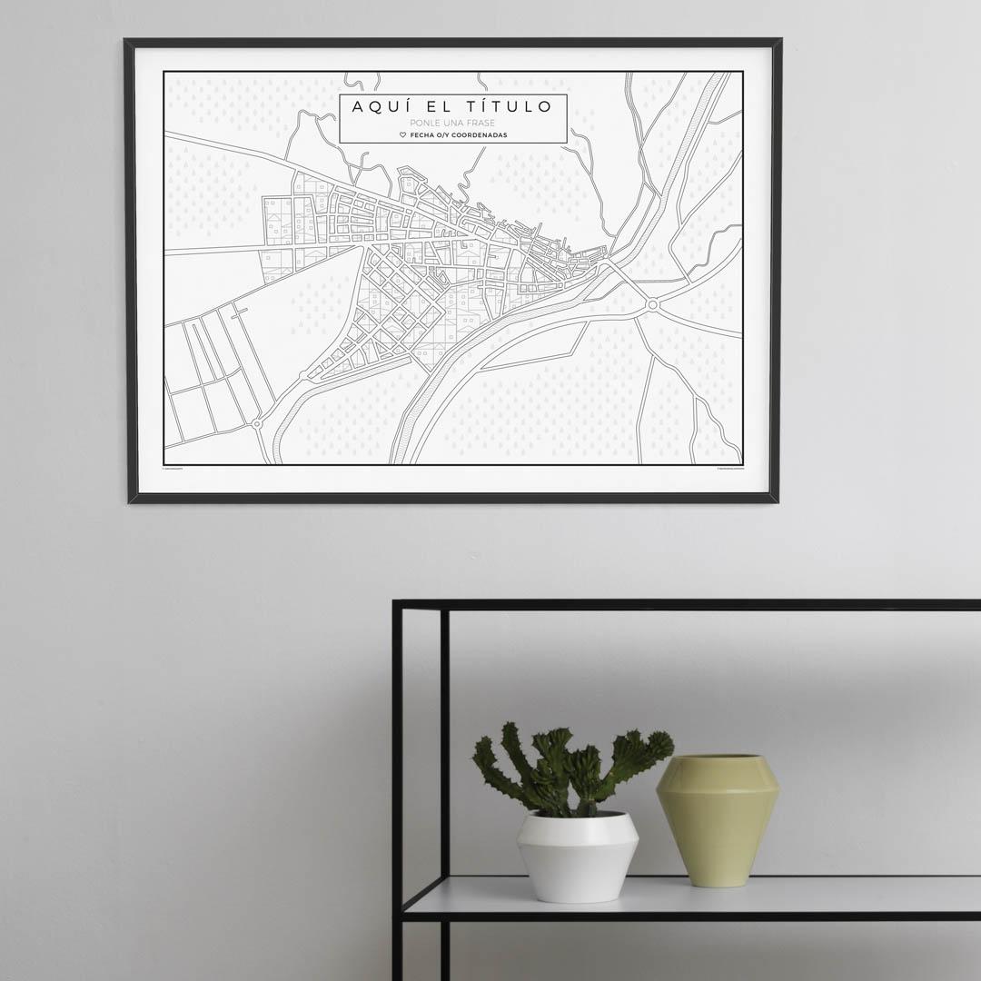 Mapas para pueblos ideales para regalar