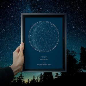Mapas estelares personalizados de un día concreto un regalo muy original